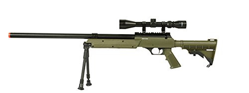 Well APS MB06A SR-2 Bolt Action Sniper Rifle Airsoft Gun (OD/Scope & Bipod Package)