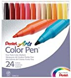 Pentel S360-24 Assorted Colors Pen Set 24 Count