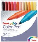 Pentel S360-24 Assorted Colors Pen Set 24 Count