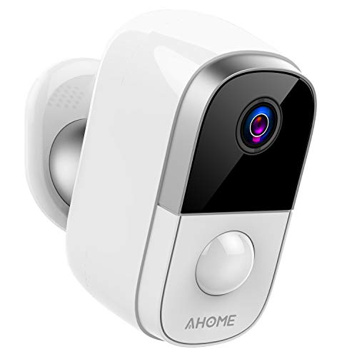 AHOME C1 Wireless Battery Powered Security Camera Outdoor/Indoor with PIR Motion Detection, 1080P Night Vision, Two-Way Audio, 2.4Ghz WiFi, Micro-SD Card/Cloud Storage