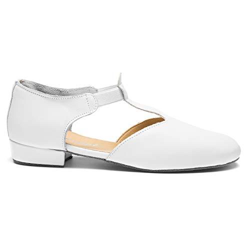 Scarpe Sandal Danza Donna Bianco Greek 1312 S8Ox0BWfx