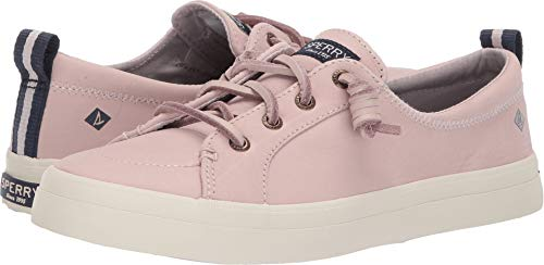 SPERRY Women's Crest Vibe Washable Leather Sneaker, Rose Dust, 6