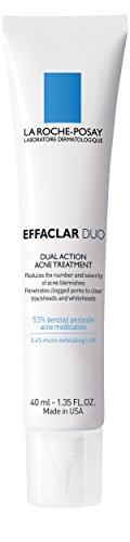 La Roche-Posay Effaclar Duo crème de traitement de l'acné à double Action avec du peroxyde de benzoyle, exempt d'huile, 1,35 Fl. Oz.