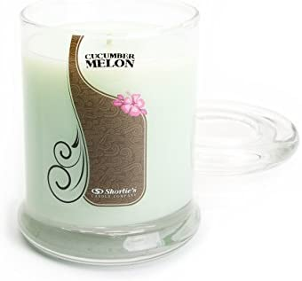 Cucumber Melon Candle - Small Green 6.5 Oz. Highly Scented Jar Candle - Made with Natural Oils - Fresh & Clean Collection