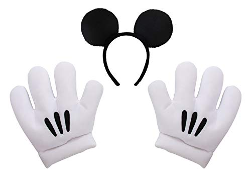 Mickey Mouse Costume Adult (elope Disney's Mickey Mouse Ears & Gloves)