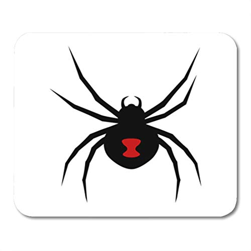Semtomn Gaming Mouse Pad Mark Black Widow Spider Red Marking Flat for Apps 9.5