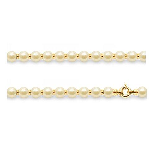 Collier en Perles de culture Dorées et Perles en Or Jaune 750/1000 -Blue Pearls-BPS K001 W DORE