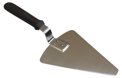 Pie Server Brown (Set of 1 Large Pizza Server, Steel Blade, Brown Plastic Handle, Reinforced)