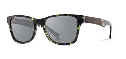 Shwood - Canby Square Acetate & Wood Sunglasses - Dark Forest // Elm ()