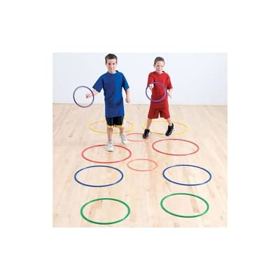Color My Class Flat Hoops (12-Pack): Sports & Outdoors