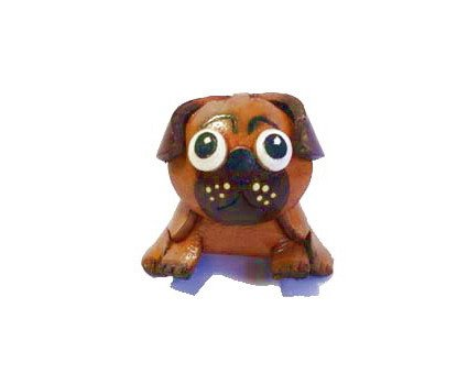 Genuine leather Pug key ring Holde Luxury Handcraft Novelty Gift Purse Bag - Frames India Police