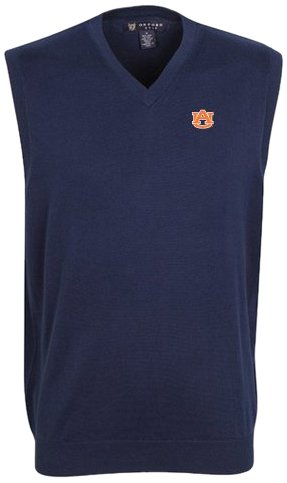 Oxford NCAA Auburn Tigers Men's Bristol Sweater Vest (Classic Navy, Small)
