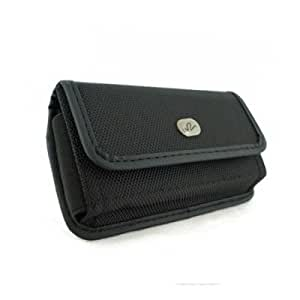 Brand New Black Horizontal Heavy Duty Rugged Cover Belt Clip Side Case Pouch For Alcatel One Touch Snap 7025 7025D