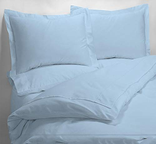 - 1000 Thread Counts Twin Size Light Blue Solid 100 GSM Fiber Fill 1pc Comforter 100% Egyptian Cotton - by AP Beddings