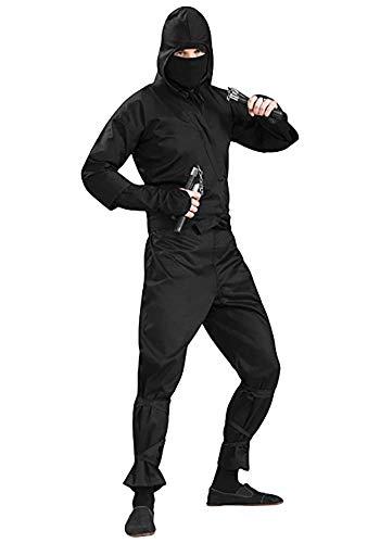 Forum Mens Deluxe Ninja Adult Costume, black, X-Large