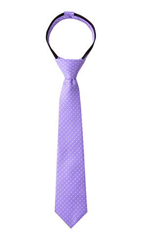 Spring Notion Boy's Dotted Woven Zipper Tie Ultra Violet Large