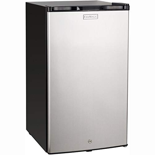 Fire Magic 20-inch 4.0 Cu. Ft. Compact Refrigerator – Stainless Steel Door/Black Cabinet – 3598
