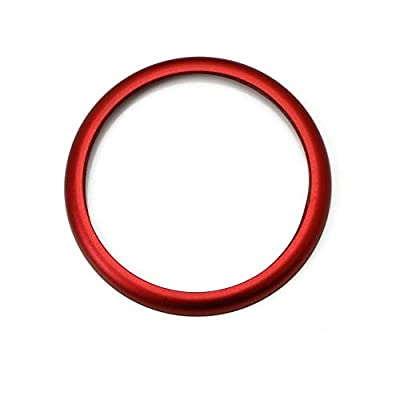 DEMILLO 1pc Aluminum Ring for BMW 1 2 3 4 5 6 7 Series X3 X4 X5 X6 Center Console iDrive Multimedia Controller Knob (red): Automotive