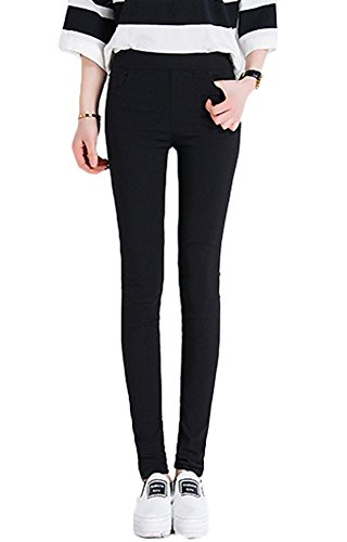 Smibra Womens Candy Colored Stretch Pencil Pants Casual Slim Skinny Capris Leggings by Smibra
