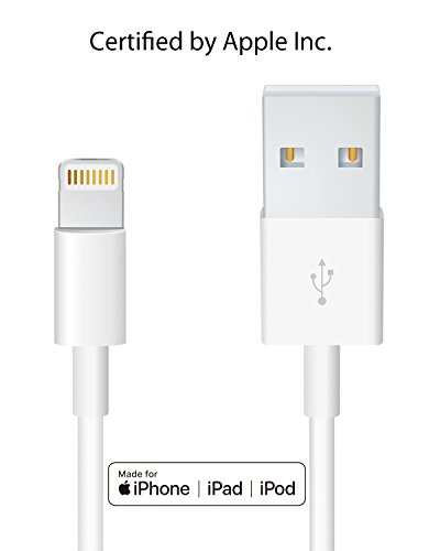 Heardear Origin Cable Apple iPhone/iPad Charging/Charger Data Cable/Cord/Line Lightning Cable [MFi Certified] for iPhone, iPad (White 3.33FT), Grey White