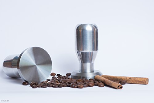 Modern Professional Coffee Espresso Tamper 100% Stainless Steel Base, Variety of Sizes. (51mm)
