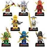 Bella ninjago figures set of 8 minifigures,lloyd,cole,zane,jay,nya,kai,sensei wu,pythor.please look at our many other ninjago figures.