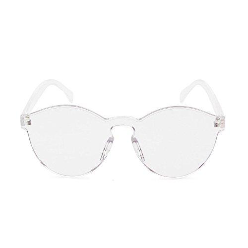 Femme Candy Transparents Blanc Rétro wlgreatsp Soleil Couleur de Lunettes Verres ZwzxY0tY