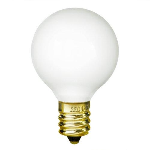 Bulbrite 10G12WH 10W G12 Globe 130V Light Bulb, White
