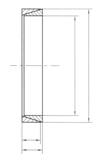 16 mm Outside Sleeve Diameter Mfg Code 1-057 R13//16 Ametric/® Metric Keyless Locking Ring Element 13 mm Bore 4.5 mm Body Length