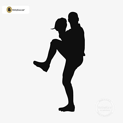 TheVinylGuru - Baseball Wall Decal - Right Handed Pitcher Vinyl Art for Home Decor - Removable Giant Sticker - Batting Player Silhouette for Boys and Girls - Safe Outline Figure for Themed Room Design