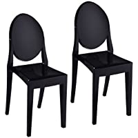 Pangea Home Royce Dining Chair, Black, Set of 2