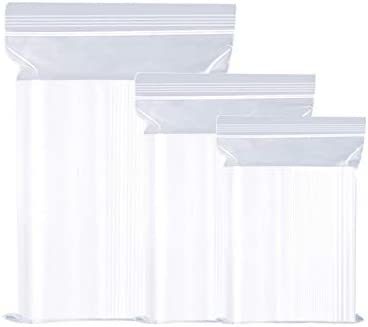 WeiMeet - Bolsas de plástico con cierre autoadhesivo, 300 ...