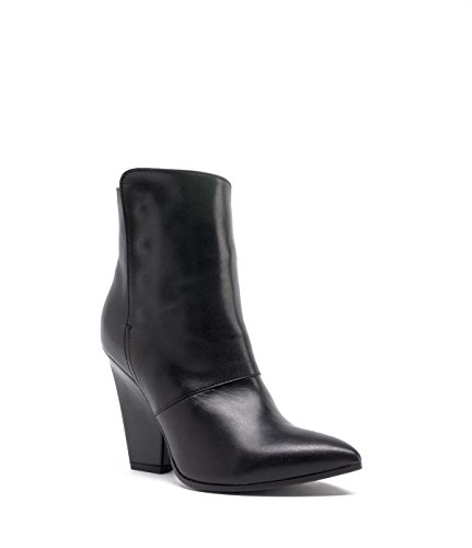 PoiLei Cowgirl Stiefelette spitz Sarah Leder Ankle Boot Damen schwarz