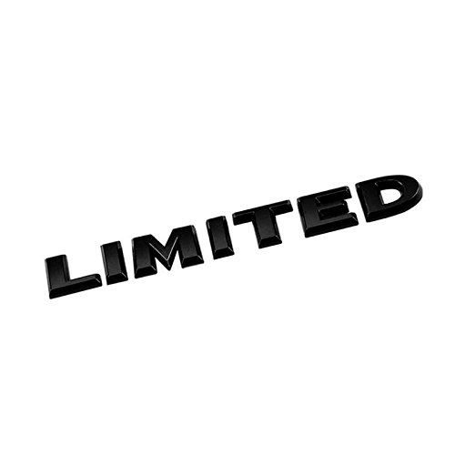 (UrMarketOutlet Limited Black/Chrome Aluminum Alloy Auto Trunk Door Fender Bumper Badge Decal Emblem Adhesive Tape Sticker)