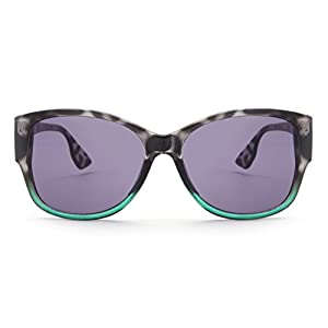 Laura Fairy Womens'/ladies' Designer Fashion Leopard Uv400 Big Square Sunglasses (black)