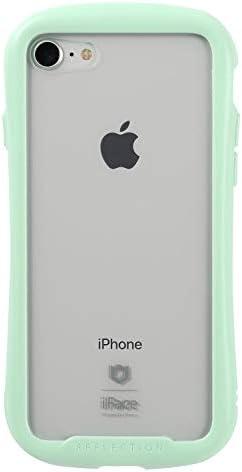 iFace Reflection Pastel iPhone SE 2020 第2世代/8/7 ケース クリア 強化ガラス [ミント]