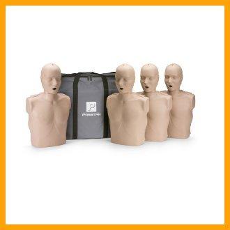 Prestan Adult Medium Skin CPR-AED Training Manikins 4-Pack (w/o CPR monitor)