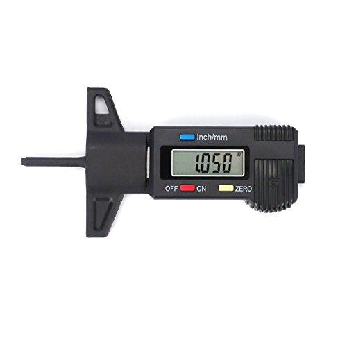 H88 Digital Tire Tread Depth Gauge Meter Measurer LCD Display Tyre Tread Brake Shoe Pad Wear Tire Tester Tread Checker for Cars Trucks SUV black 0-25mm by H88 (Image #4)