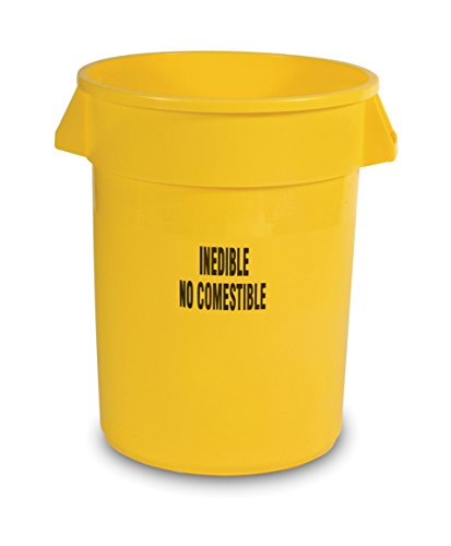 (Rubbermaid Commercial Products FG263256YEL BRUTE Heavy-Duty Round Container with