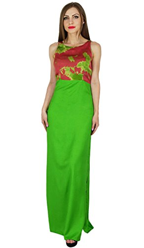 Dress Wear Maxi Sleeveless Summer Long Green Dresses Gown Women Resort Rayon Bimba wFx1aX0q1