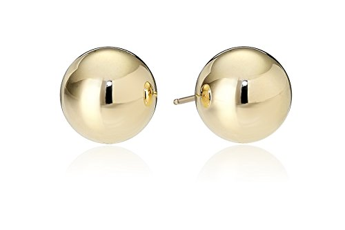 18k Gold Ball Earrings (18k Yellow Gold 7mm Ball Stud Earrings)