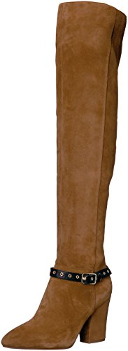 (Nine West Women's Sandor Knee High Boot, Brown/Black Suede, 7.5 Medium US)