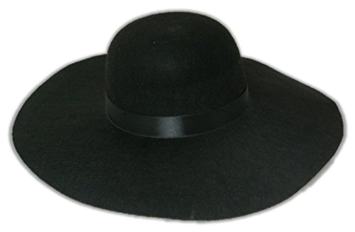 Large Oversized Round Felt Black Hat for Undertaker Costume-Small/Medium by Carnival