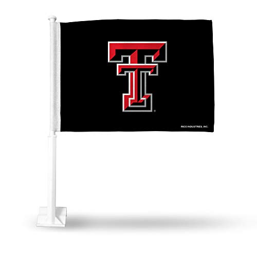 Rico Industries NCAA Texas Tech Red Raiders Car Flag, with White Pole