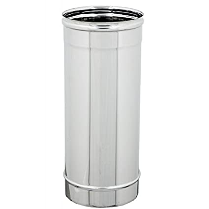Bertone inoxidable, tubo módulo acero inoxidable AISI 304 caña Caños Leña Pellets Estufa Chimenea,