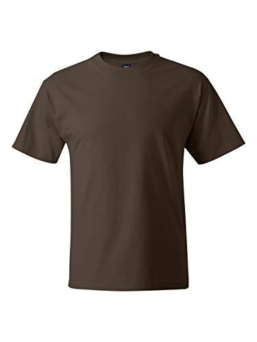 Hanes Beefy-T Adult Short-Sleeve T-Shirt (Dark Chocolate, ()
