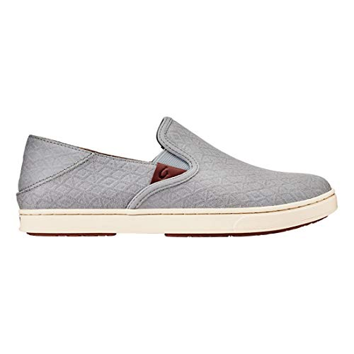 OLUKAI Women's Pehuea Sneaker (8.5 B US, Pale Grey Kapa/Pale Grey)