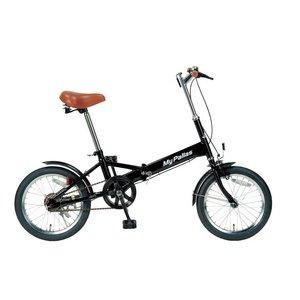 MYPALLAS(マイパラス) 折りたたみ自転車 16インチ M-101BK ブラック B01CXDUETI