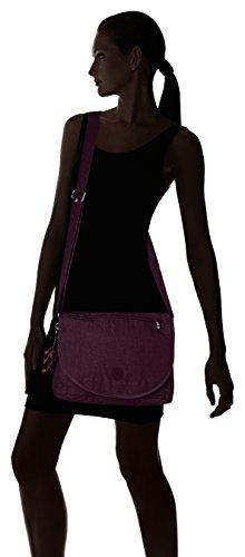 Kipling Damen Orleane Umhängetasche, 32x11x23 cm Violett (Plum Purple)