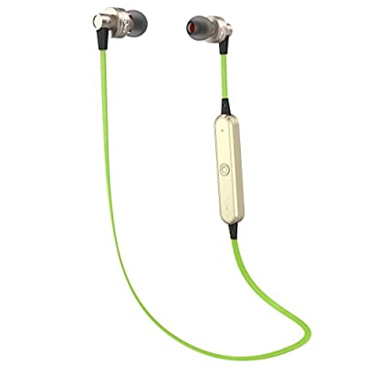 JOKERET Wireless Sport Bluetooth Headphones 4.0 Headset Running Microphone Earphone Earbuds with Mic New Design 2015 for iPhone 6 5s 5c Samsung Galaxy Cell Phones Other Bluetooth Device(Green)